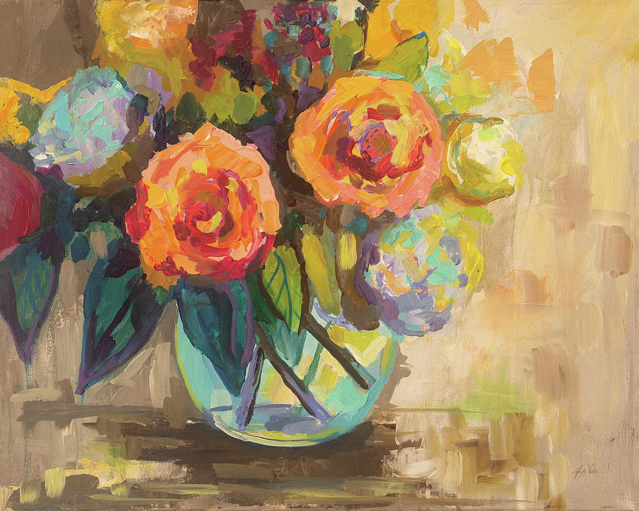 Bouquets Painting - The Couple by Jeanette Vertentes