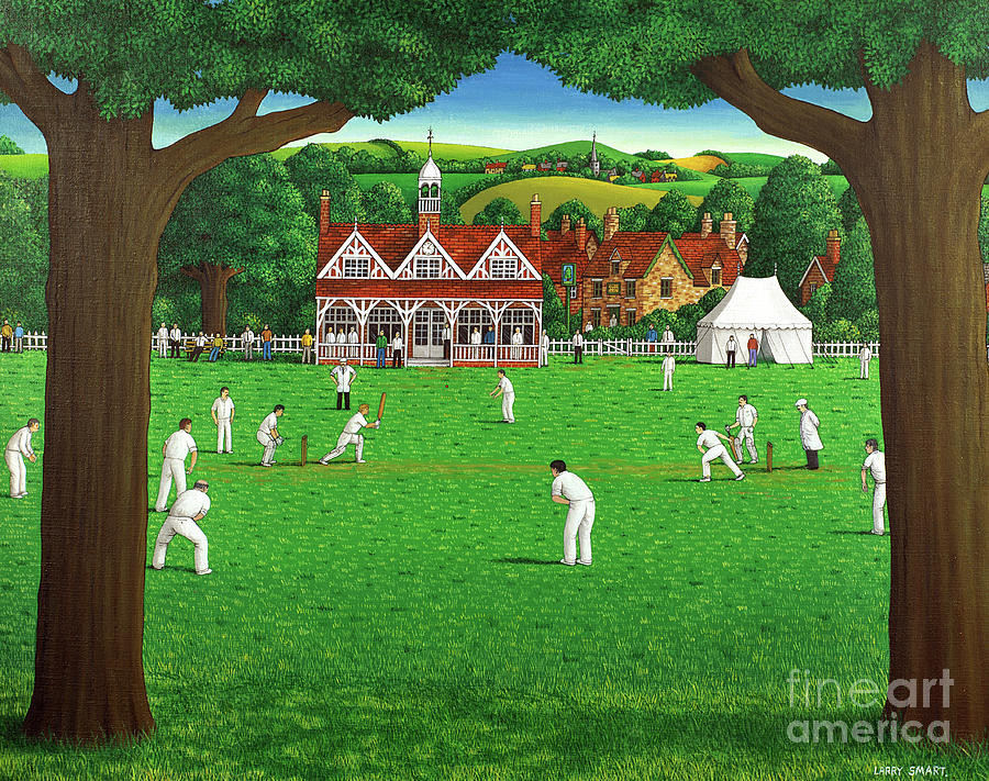 Cricket Painting - The Cricket Match by Larry Smart