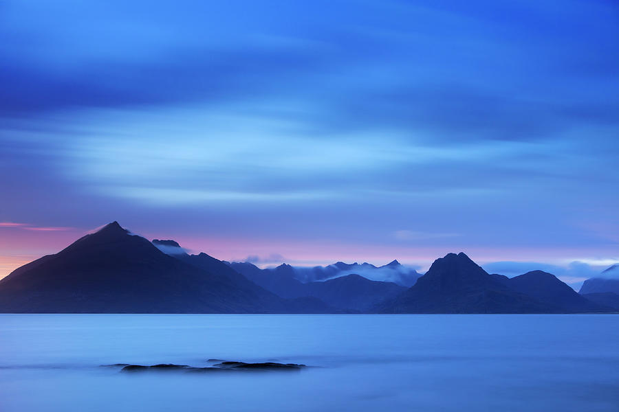 The Cuillins At Dusk Near Elgol, Isle Photograph by Sara winter