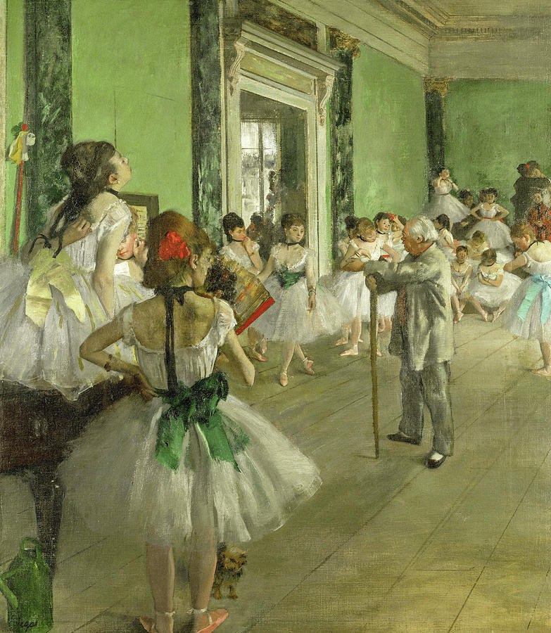 Edgar Degas Painting - The Dance Class, Circa 1874 by Edgar Degas
