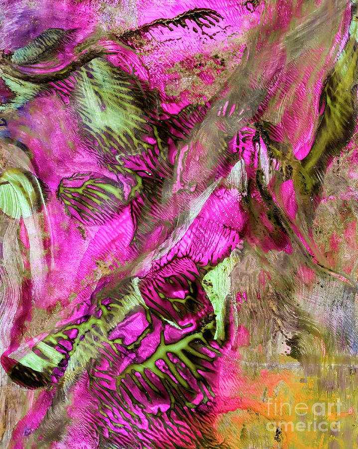 Abstract Painting - The Dance by Laura L Leatherwood