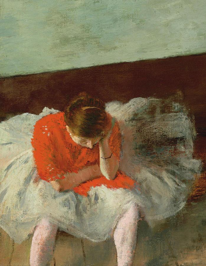 Edgar Degas Painting - The Dance Lesson, Ballerina by Edgar Degas