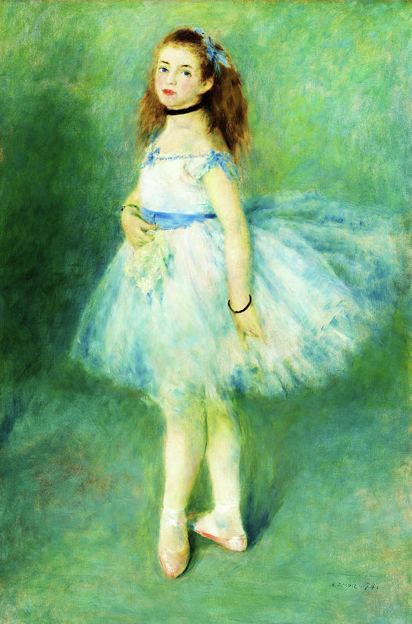 The Dancer Painting - The Dancer - Digital Remastered Edition by Pierre-Auguste Renoir