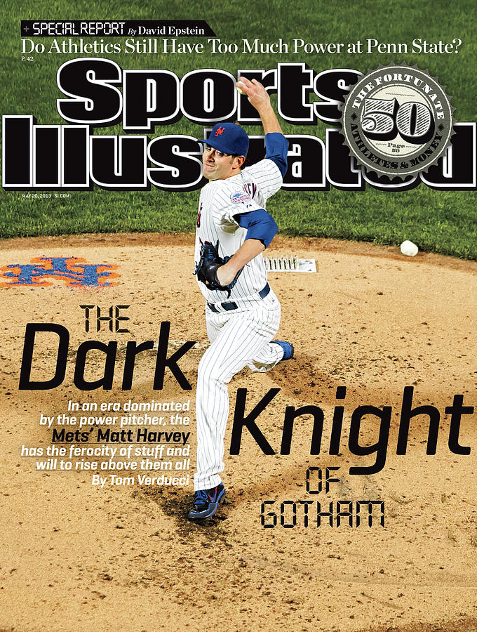 The Dark Knight Of Gotham The Mets Matt Harvey Sports Illustrated Cover Photograph by Sports Illustrated