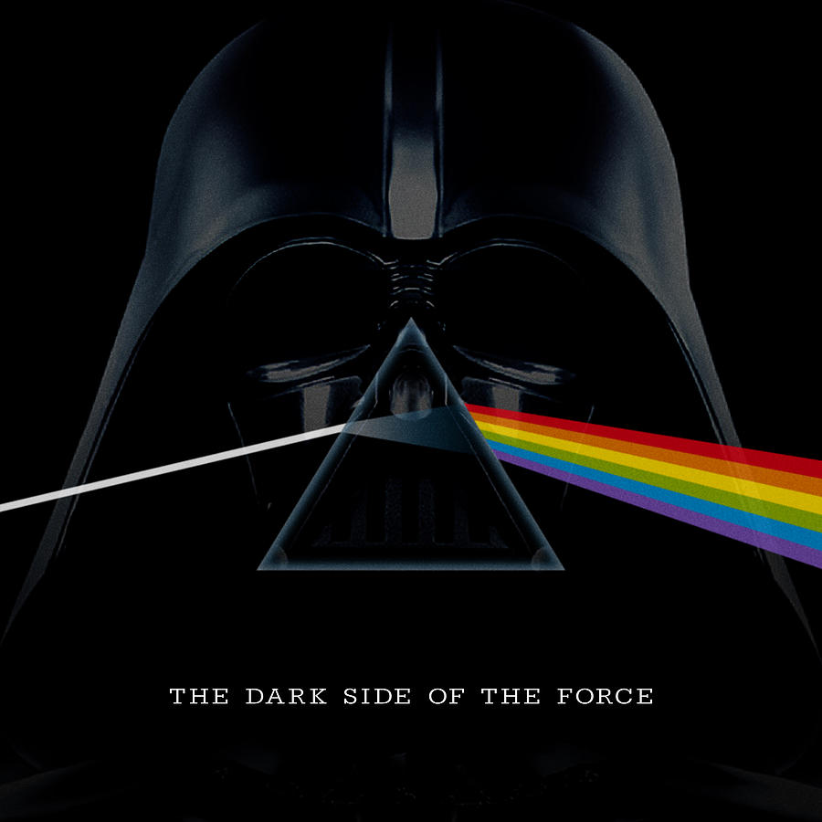The Dark Side Of The Force Text Photograph
