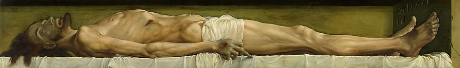 Hans Holbein Painting - The Dead Christ In The Tomb by Hans Holbein
