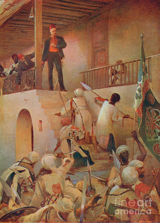The Death Of General Gordon, Khartoum Drawing by Print Collector