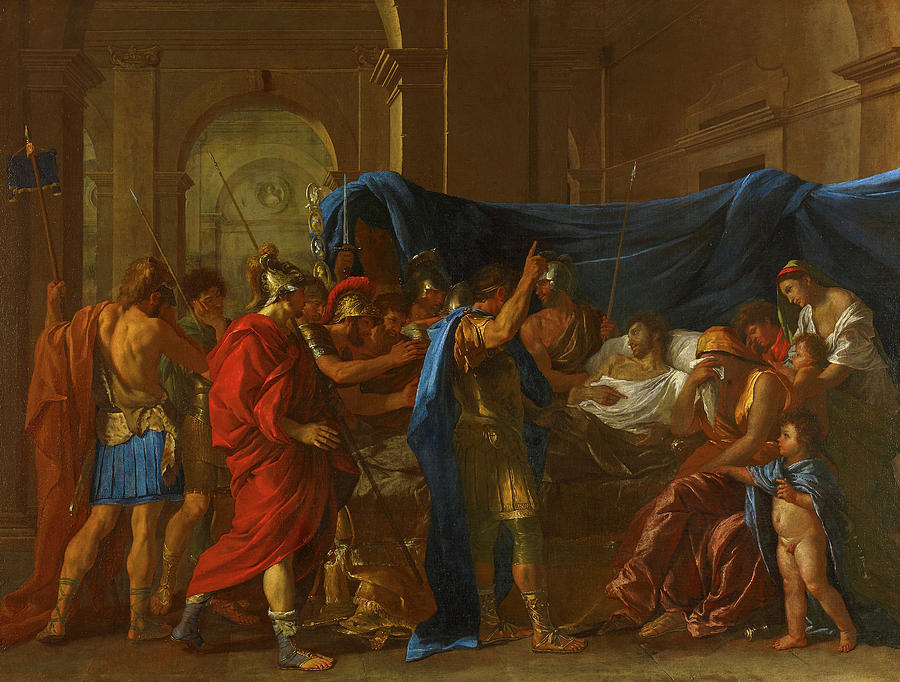Nicolas Poussin Painting - The Death Of Germanicus, 1627 by Nicolas Poussin