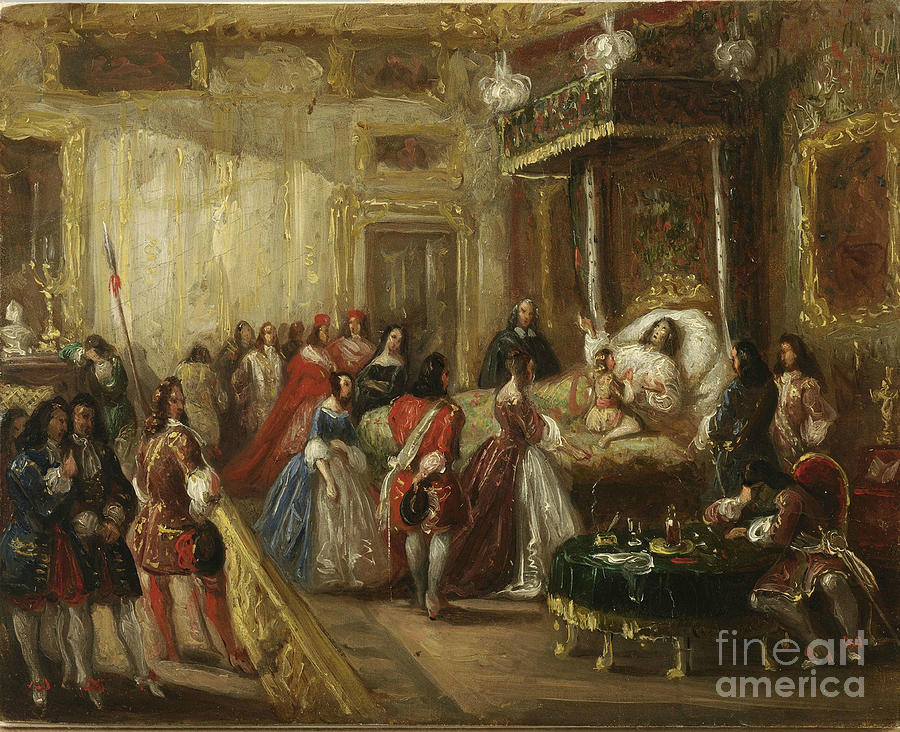 The Death Of Louis Xiv In Versailles Drawing by Heritage Images