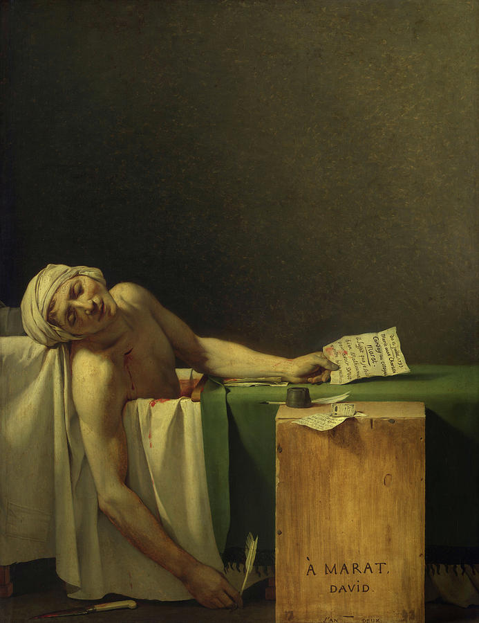 Jacques-louis David Painting - The Death Of Marat, 1793 by Jacques-Louis David