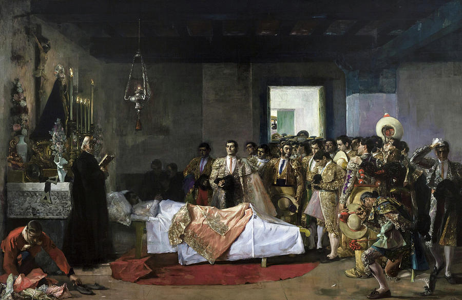 Cordero Painting - The Death Of The Bullfighter by Jose Villegas Cordero