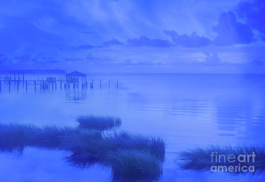 Shore Digital Art - The Deep Blue Seascape by Randy Steele
