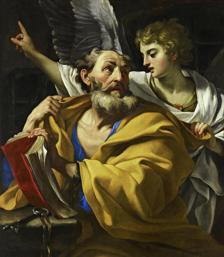 Deliverance Painting - The Deliverance Of Saint Peter, 17th Century by Emilian School