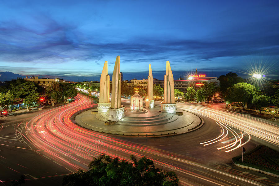 The Democracy Monument Photograph by Thanapol Marattana