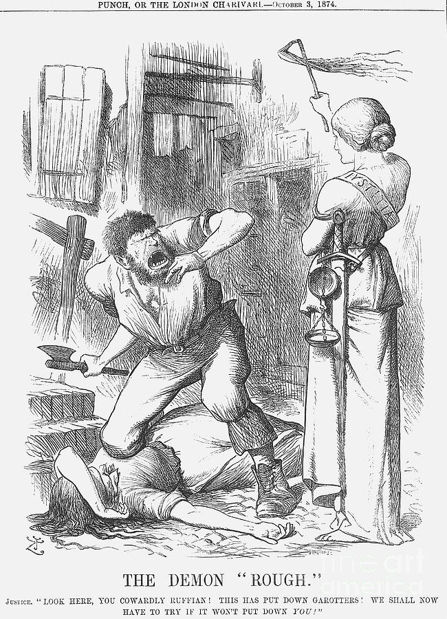 The Demon Rough, 1874. Artist Joseph Drawing by Print Collector