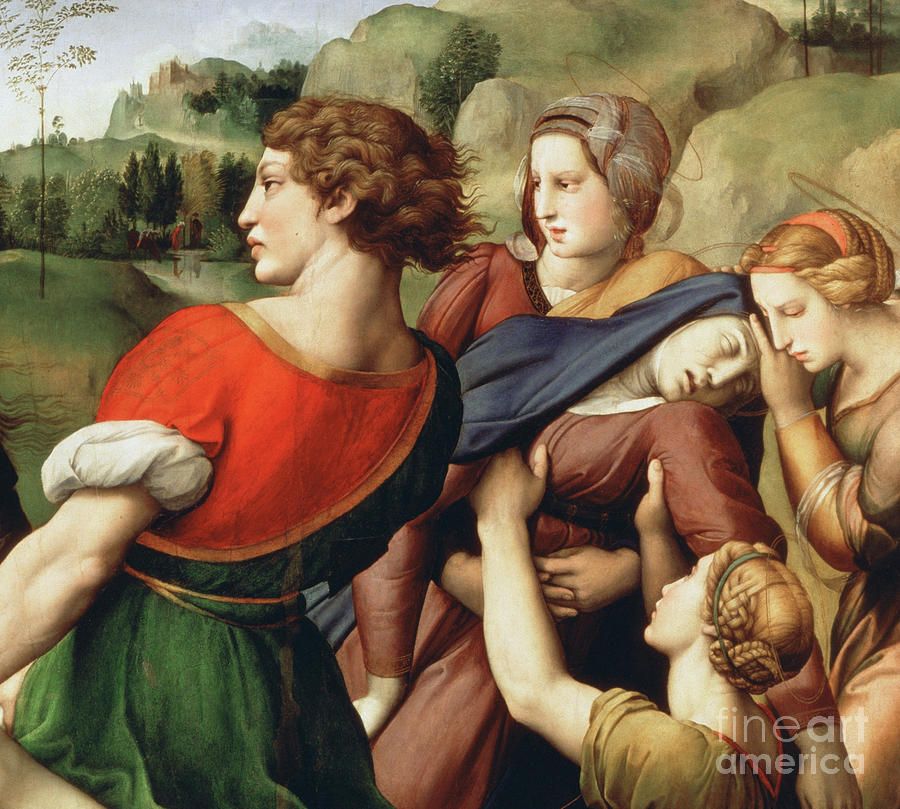 Raphael Painting - The Deposition, Detail, 1507 by Raphael
