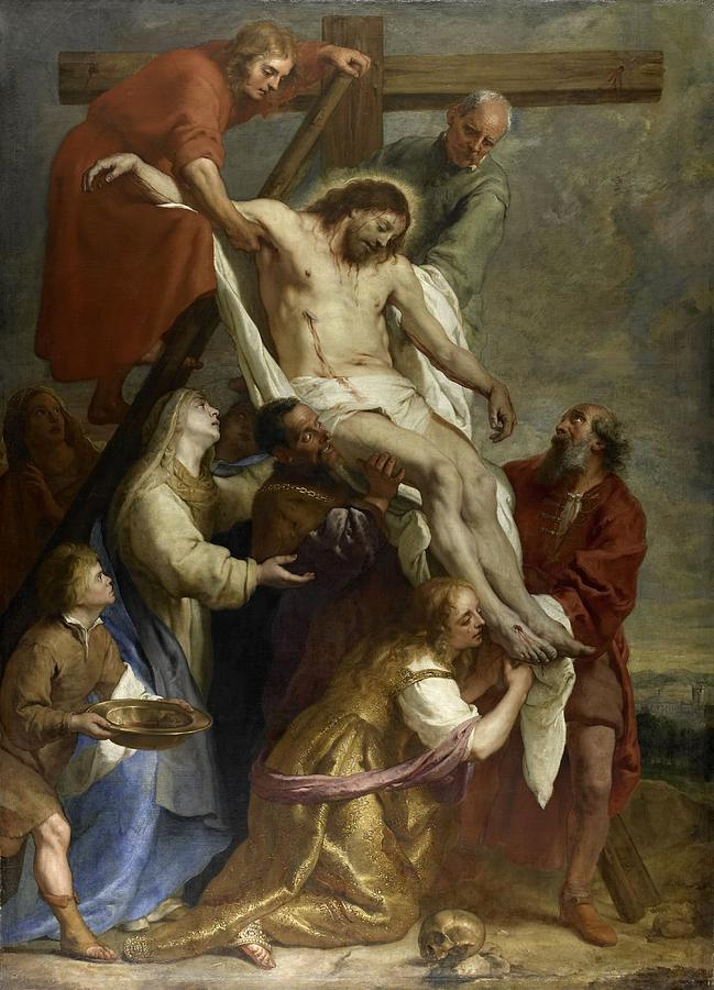 Christ Painting - The Descent From The Cross by Gaspar de Crayer