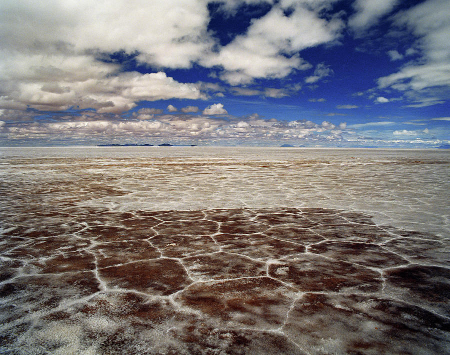 The Desert Salt Flats Of The Salar De Photograph by Linka A Odom