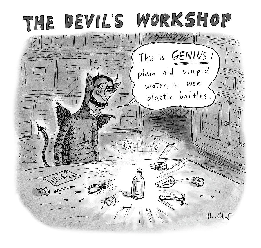 The Devils Workshop Drawing by Roz Chast