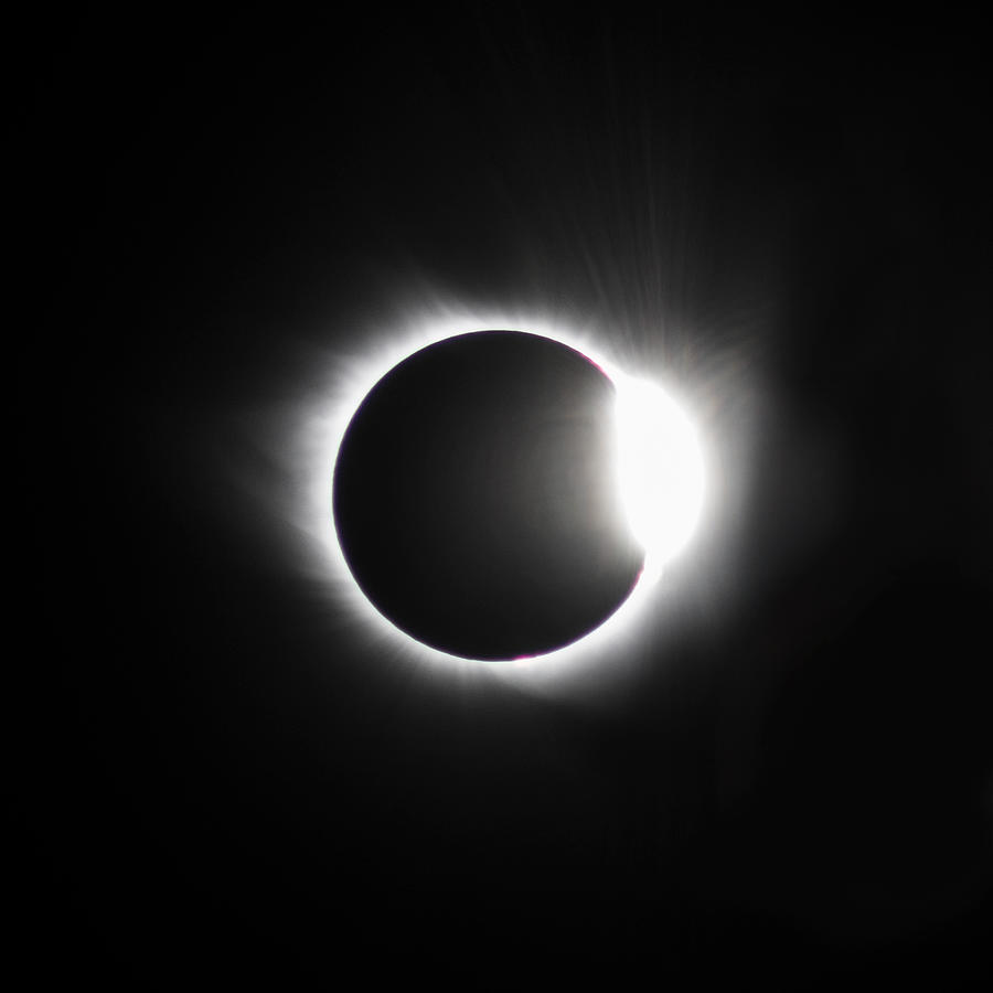 The Diamond Before Totality Photograph