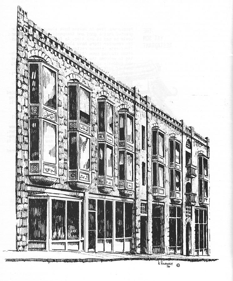 Helena Drawing - The Diamond Block Helena Montana by Kevin Heaney