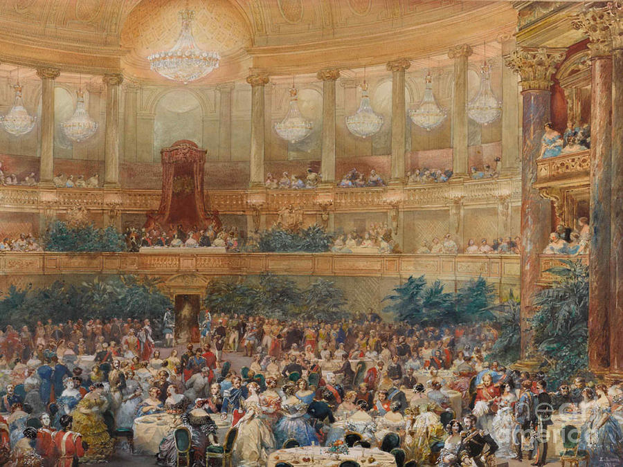 The Dinner At Versailles Drawing by Heritage Images