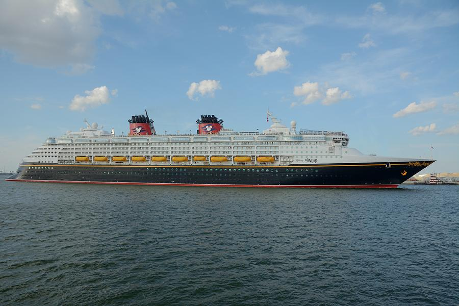 The Disney Wonder Underway by Bradford Martin