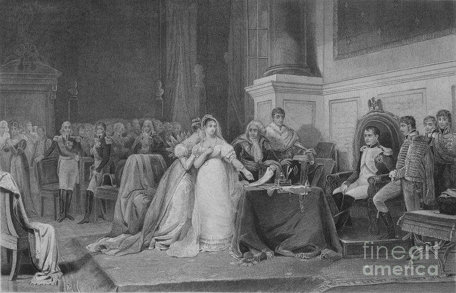 The Divorce Of Josephine Drawing by Print Collector