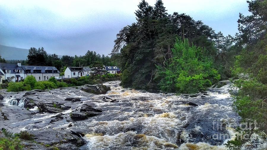 The Dochart Fall at Killin 2 by Joan-Violet Stretch