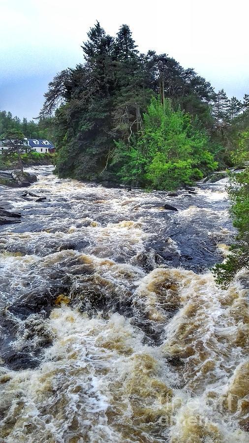 The Dochart Falls at Killin 3 by Joan-Violet Stretch
