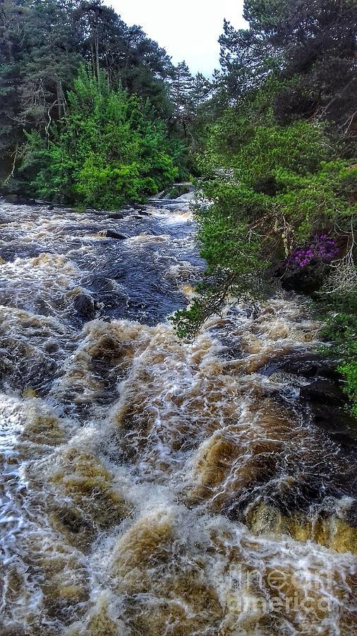 The Dochart Falls at Killin by Joan-Violet Stretch