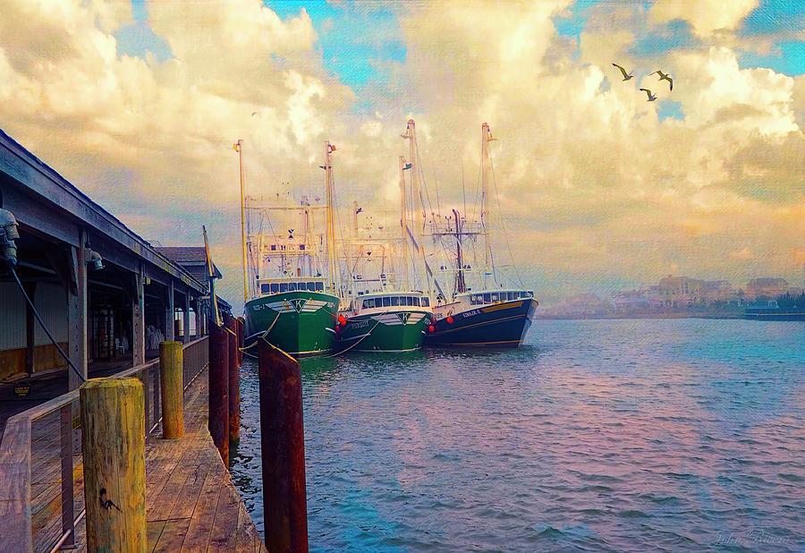 The Docks at Cape May by John Rivera