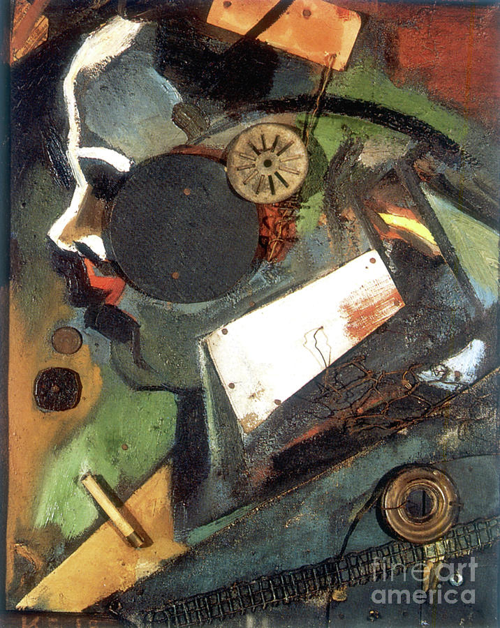 The Doctor 1919 Artist Kurt Schwitters Drawing by Print Collector
