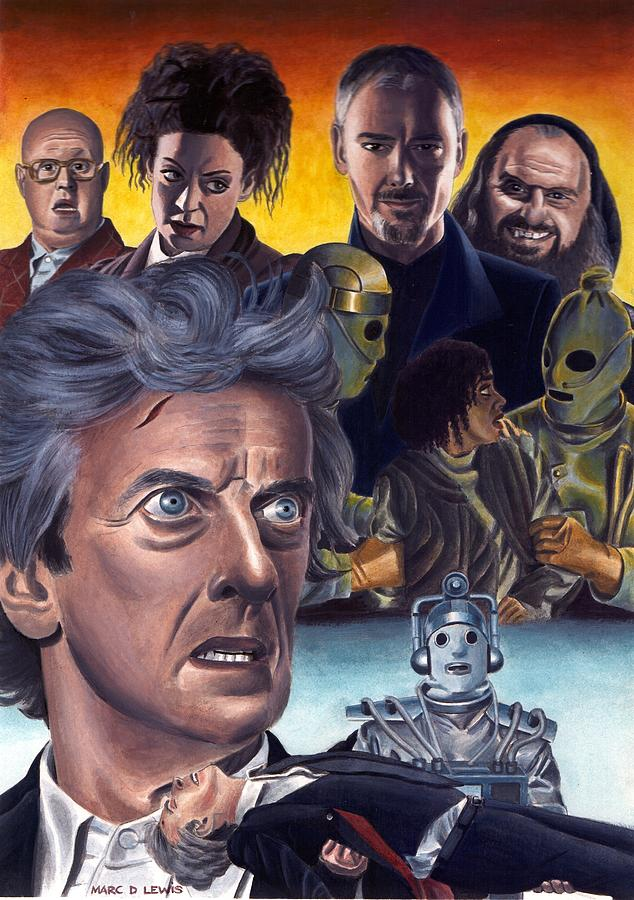 Dr Who Painting - The Doctor Falls by Marc D Lewis