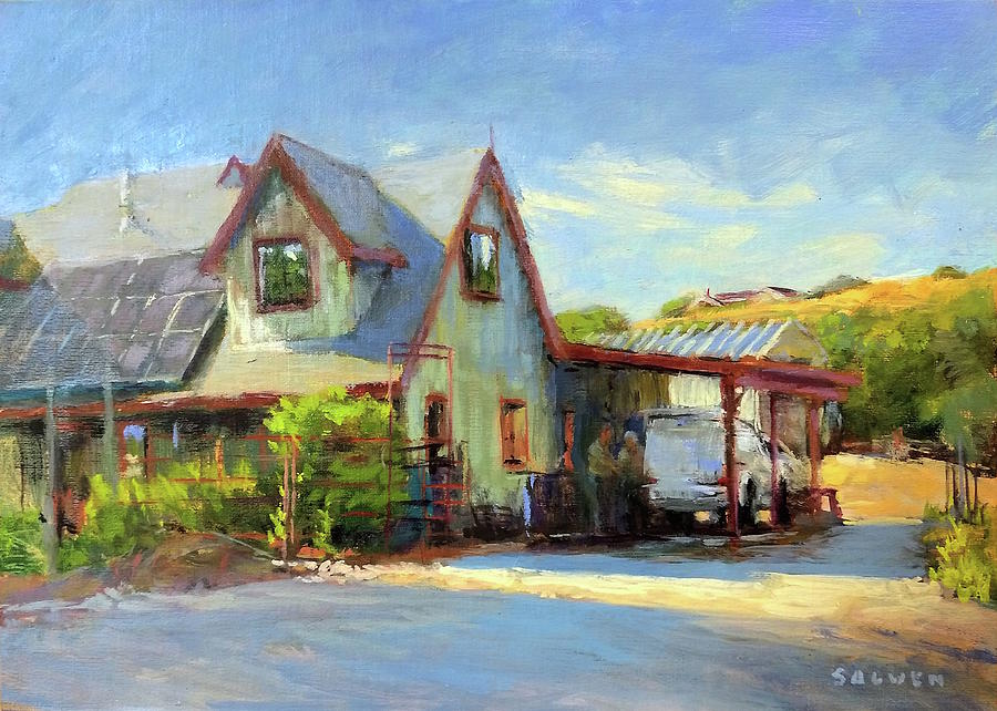 California Painting - The Doctor Is In by Peter Salwen