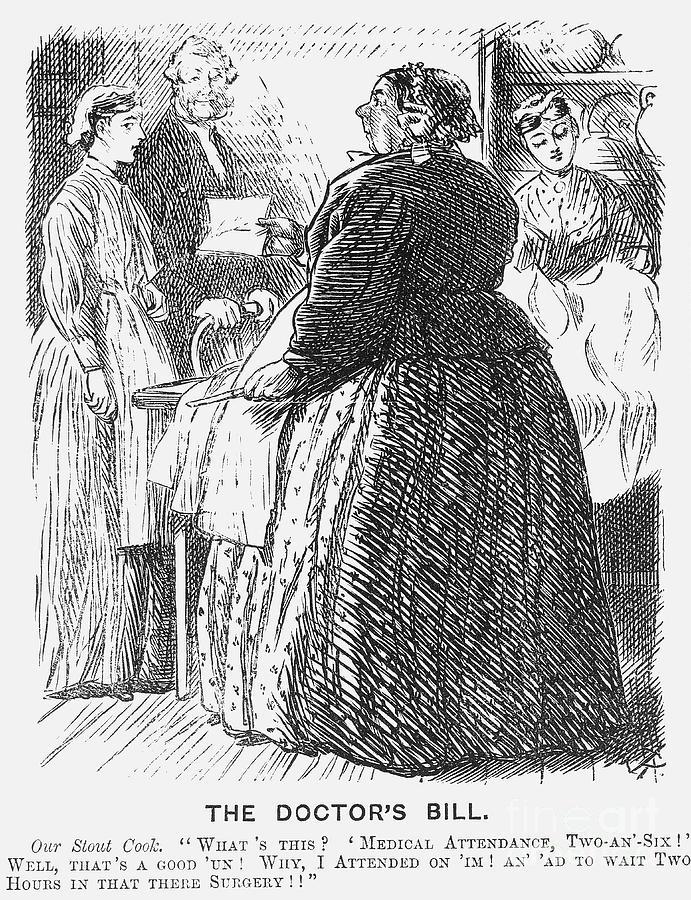 The Doctors Bill, 1869. Artist Charles Drawing by Print Collector