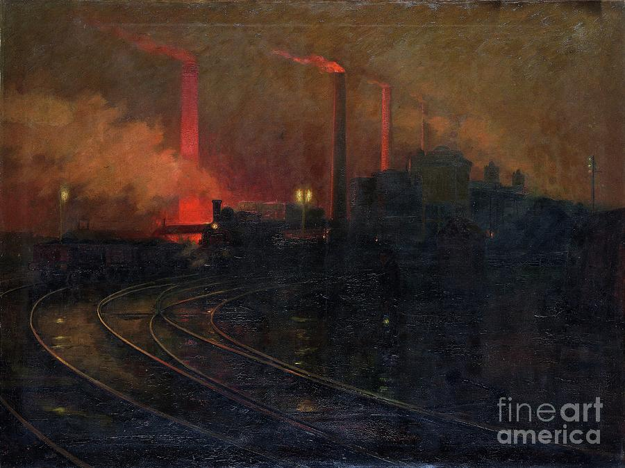 The Dowlais Steelworks, Cardiff Drawing by Heritage Images