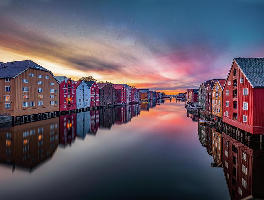 The Dreamy Colors Over Trondheim  by Aziz Nasuti