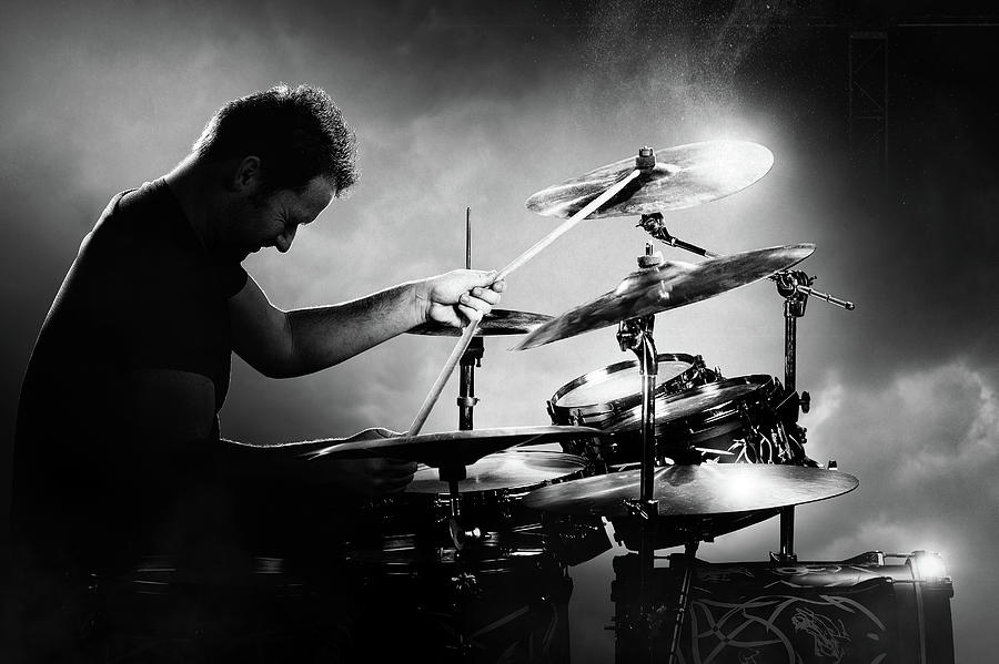 Drummer Photograph - The Drummer by Johan Swanepoel