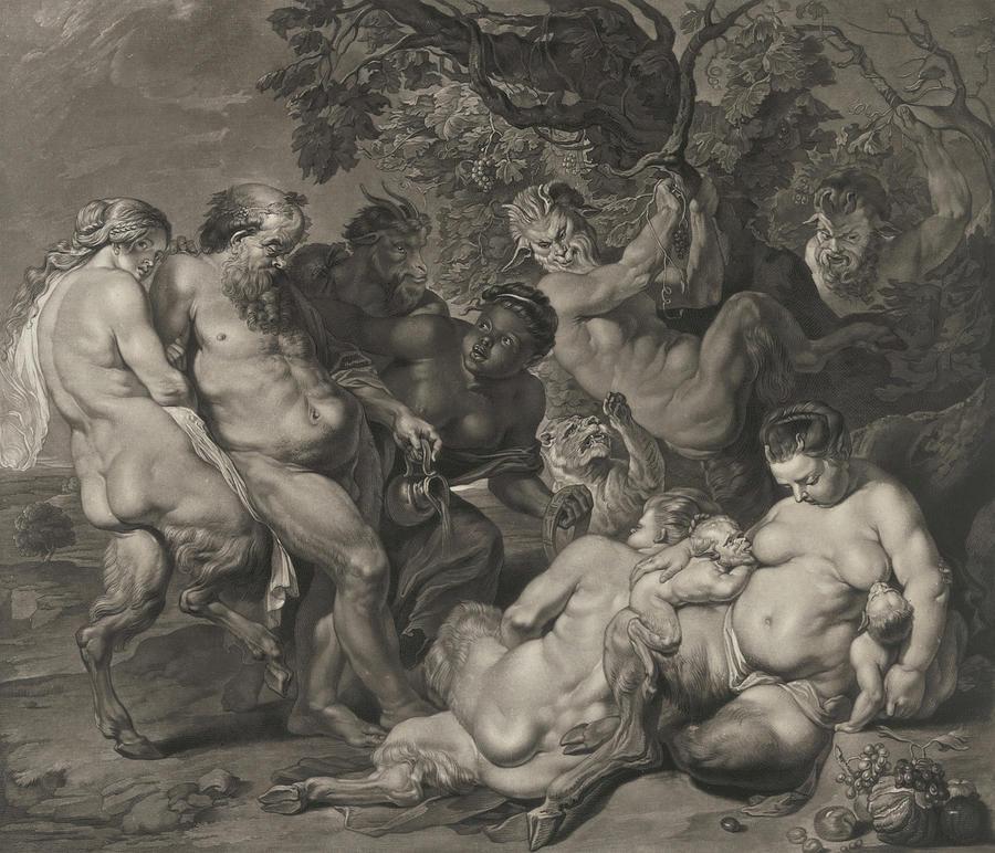 Paul Rubens Painting - The Drunken Silenus, 1617 by Peter Paul Rubens