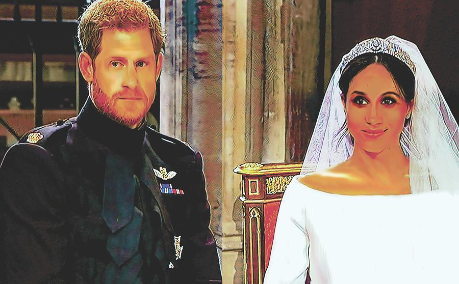 The Duke and Duchess of Sussex by Sarah Hanley