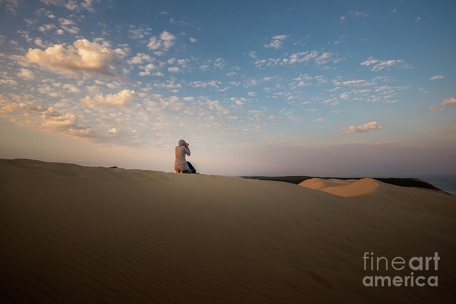 the dune in the morning light by Hannes Cmarits