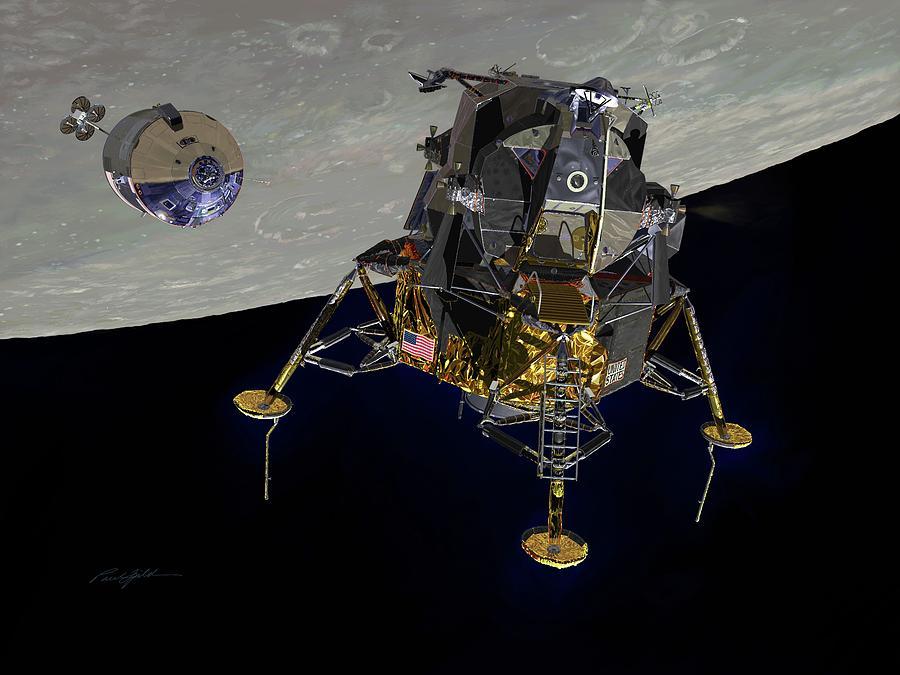 Apollo 11 Digital Art - The Eagle Has Wings by Paul Fjeld