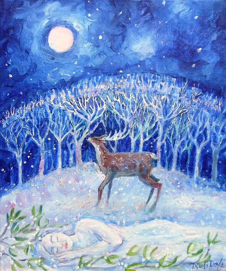 Winter Painting - The Earth Awaits  by Trudi Doyle