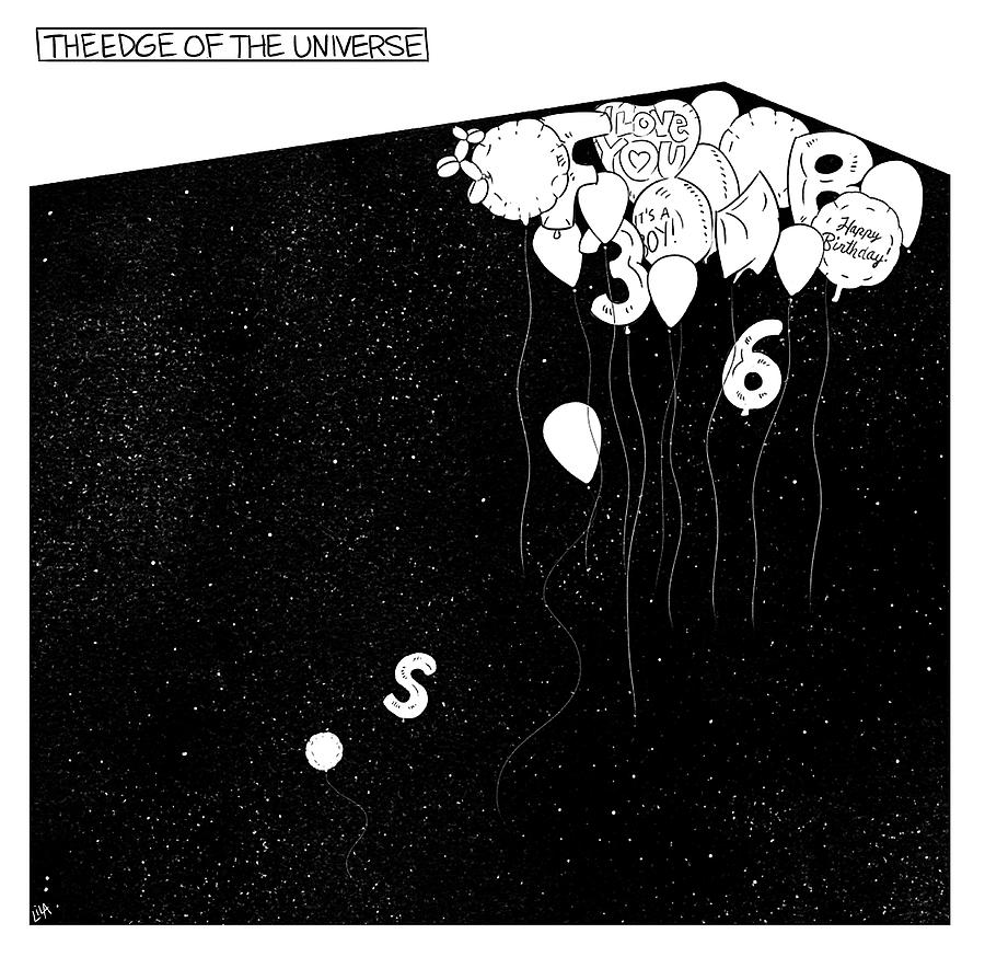The Edge Of The Universe Drawing by Lila Ash