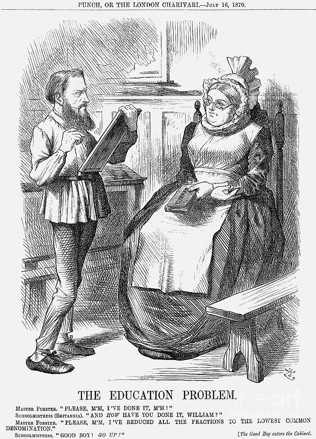 The Education Problem, 1870. Artist Drawing by Print Collector