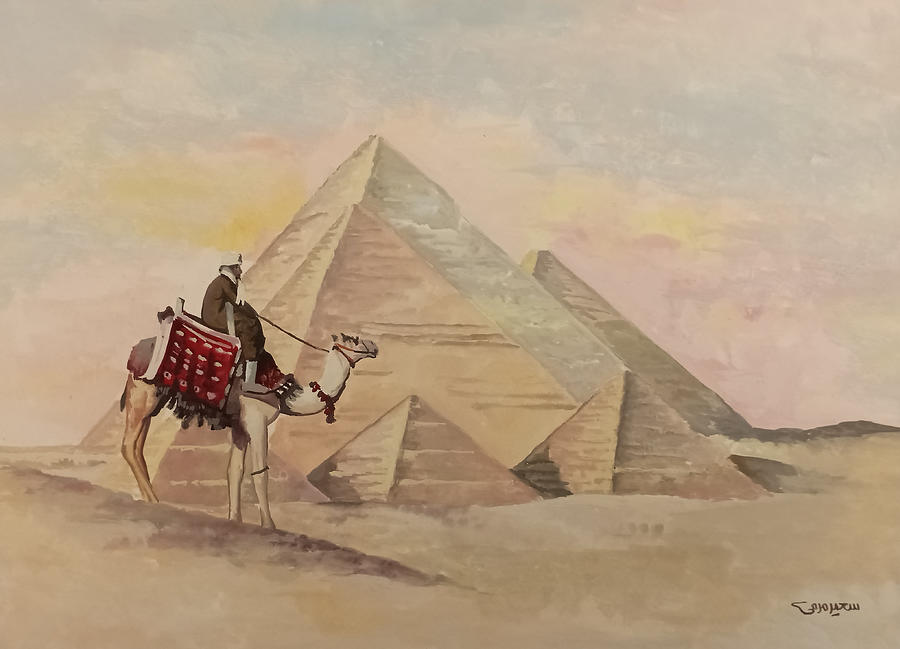 The Egyptian Pyramids by Said Marie