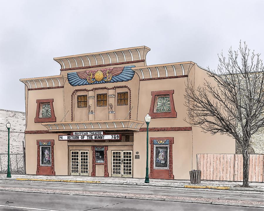 The Egyptian Theatre by Rick Adleman