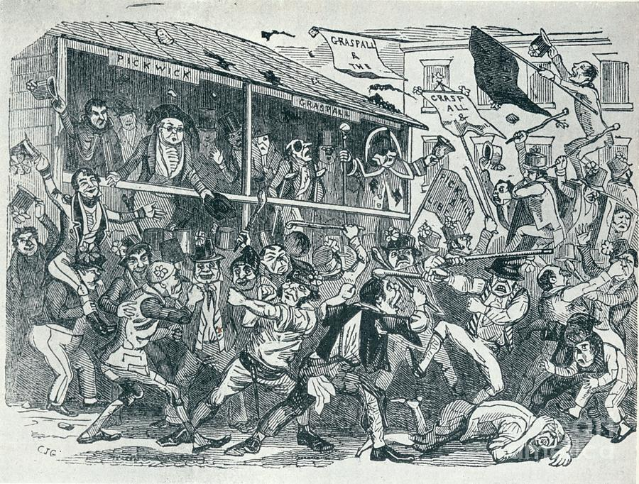 The Election At Eatanswill, C1836, 1925 Drawing by Print Collector