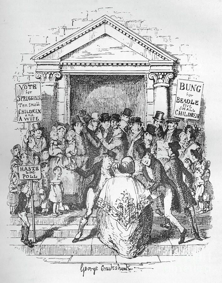 The Election For Beadle, C1900 Drawing by Print Collector